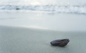 Picture sand, sea, wave, beach, water, macro, nature, grey, shore, stone, calm, silver