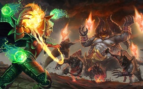 Wallpaper elf, the demon, diablo, warcraft, Heroes of the Storm, moba, Azmodan, Kael'thas