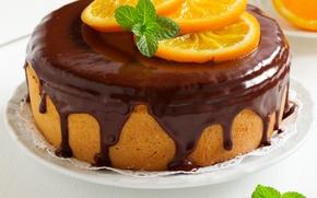 Picture cake, cake, cakes, dessert, glaze, cupcake, chocolate, oranges