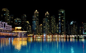 Picture night, Dubai, Dubai, night, UAE, United Arab Emirates