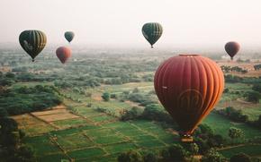 Wallpaper balloons, the sky, earth