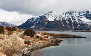 Picture mountains, island, nature, Norway, landscape, coast, Lofoten Islands
