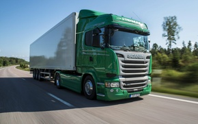 Picture road, movement, speed, track, Scania, R450