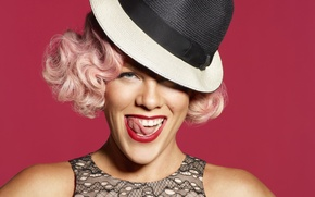 Picture music, hat, singer, celebrity, pink, pink