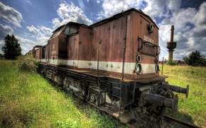 Picture train, rust, old