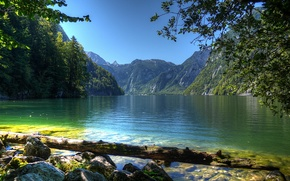 Wallpaper water, landscape, nature, river, photo, Germany, Bayern, Berchtesgaden
