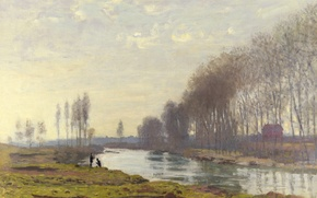 Picture landscape, picture, Claude Monet, Small sleeve of the Seine at Argenteuil