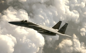 Wallpaper the plane, the sky, fighter, F-15 Eagle