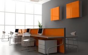 Picture orange, design, style, room, chairs, interior, apartment