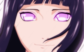 Picture eyes, girl, anime, Hinata