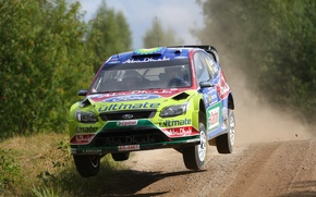 Picture Ford, Speed, Race, Focus, WRC, Rally, The front, Flies, Jari-Matti Latvala