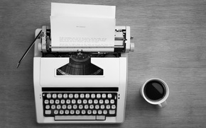 Picture text, sheet, style, retro, paper, coffee, typewriter