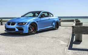 Picture blue, bmw, BMW, sports car, blue, gts, frontside