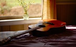 Picture room, guitar, window
