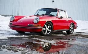 Picture winter, 911, Porsche, 1969, Porsche, classic, Targa, Targa