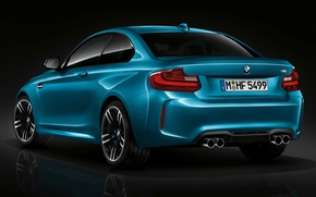 Picture BMW, Blue, Coupe, Back, View, (2015)