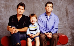 Picture the series, two and a half men, Charlie sheen, two and a half men