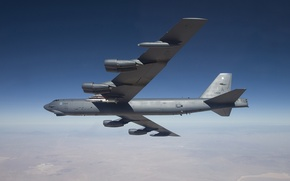 Picture the sky, Boeing, bomber, strategic, heavy, B-52, STRATO fortress