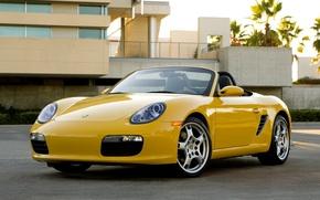 Picture Wallpaper, Porsche, Machine, yellow