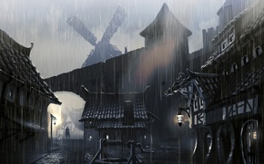 Picture skyrim, artwork, town houses