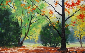 Wallpaper ART, PICTURE, FIGURE, TREES, AUTUMN, artsaus