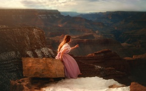 Picture girl, rocks, stone, dress, TJ Drysdale