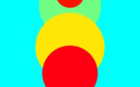 Picture Design, Lollipop, 5.0, Red, Yellow, Blue, Circles, Green, Line, Abstraction, Android, Material