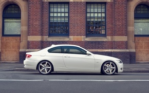 Wallpaper photo, BMW, white, cars, auto, Bmw, wallpapers auto, Wallpaper HD, white BMW, ciry