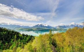 Picture autumn, landscape, mountains, nature, lake