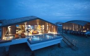 Picture Maldives, interior, exterior, luxury water villa