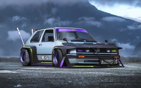 Picture Concept, Volkswagen, Car, Golf, Future, by Khyzyl Saleem, Bosozoku