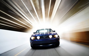 Picture auto, blue, Ford Mystang