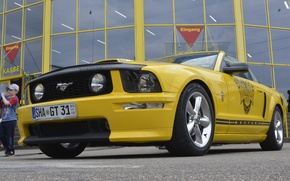 Picture car, mustang, museum