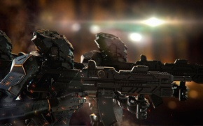 Picture light, weapons, Robots