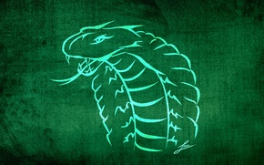 Picture animals, green, background, Wallpaper, figure, snake, texture, styling, fangs, collection, evil, Viper, emerald, LBes, Lbes