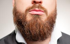 Picture man, lips, beard