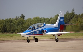 Picture field, the plane, the airfield, jet, Russian, training, takeoff, OKB MiG