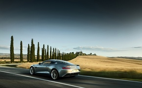 Picture machine, auto, movement, Aston Martin, speed, beauty, power, Vanquish, perfection