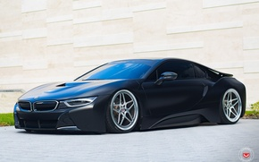 Picture tuning, bmw, BMW, wheels, black, tuning, face, germany, vossen, low, stance, electro car