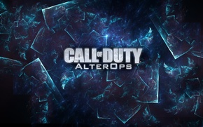 Picture game, call of duty, blue, background, do, call of duty: alter ops, age ops