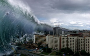 Picture wave, Disaster, tsunami