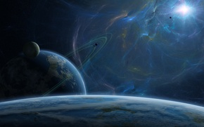 Picture blue, planets, sci fi