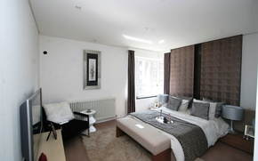 Picture design, style, room, furniture, bed, interior, pillow