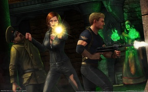 Picture girl, weapons, castle, MAG, guy, Interceptor, game wallpapers, Rise of the Triad