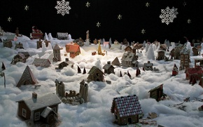 Picture Christmas, gingerbread city, winter mood