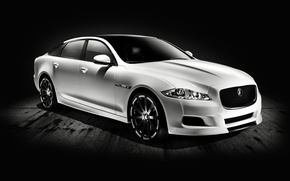 Picture Jaguar, White, Car, Car, The front