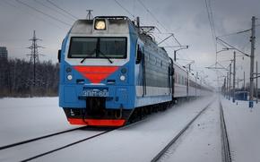 Picture winter, train, locomotive