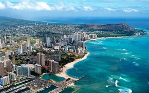 Picture sea, coast, Hawaii, panorama