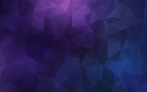 Picture wall, texture, blue, background, grunge, violet, polygon
