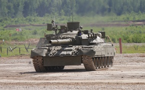 Picture tank, polygon, combat, T-80